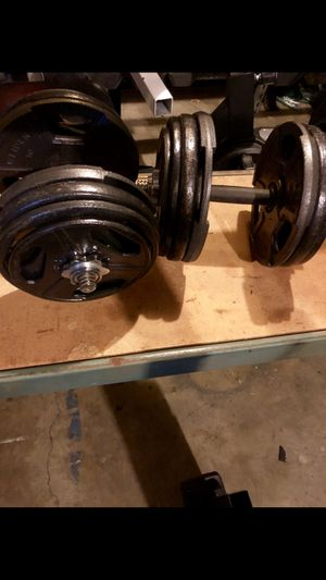 Dumbbells adjustable, 5-60lbs in 5lb increments with weight plates for Sale in Saint Charles, MO