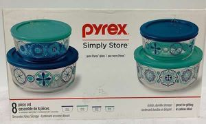 Pyrex 8Pc Decorated Food Storage Set Containers #1050079 for Sale in Medley, FL