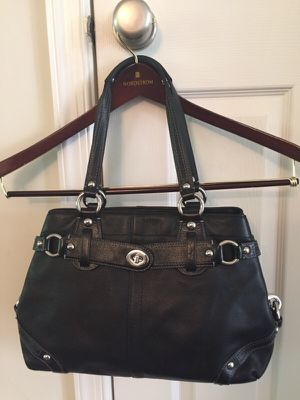Coach Carly black Leather Carryall Purse Bag Satchel Tote J0873-13236 for Sale in Ashburn, VA