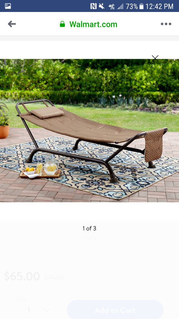 Hammock With Stand Deluxe Outdoor Patio Furniture Garden Lounge Relaxation