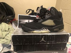 Need gone jordan 5 metallics size 9.5 OG BOX AND CARD for Sale in Alexandria, VA