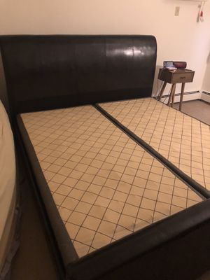 Bed frame with box spring (for king size bed) for Sale in Saint Paul, MN