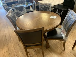 Dining table for chair solid wood 350 for Sale in Tracy, CA