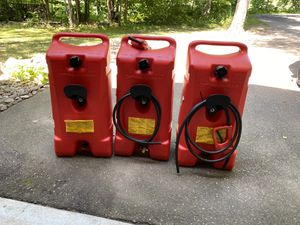 Quantity 3, 14 Gal fuel containers for Sale in Pine River, MN