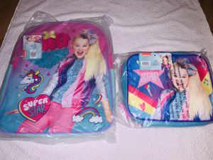 Jojo siwa bookbag with lunch bag for Sale in Cleveland, OH