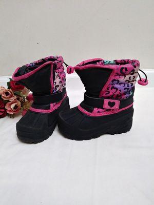 Athletech Toddler Girls Snow Boots Touhy. Girl Black Snow Boots. Botas de Niña para la Nieve. for Sale in Riverside, CA