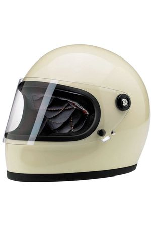 Biltwell Gringo S Motorcycle Helmet Size M in Vintage White w 2 extra bubble shields for Sale in Westminster, CA
