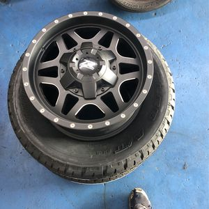 Set of New Zr 17x8.5 rims With two bridgestone tires 255/65-17 for Sale in Los Angeles, CA