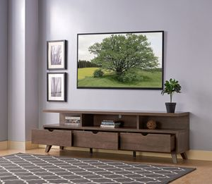 Mirage TV Stand up to 85in TVs, Walnut Oak for Sale in Huntington Beach, CA