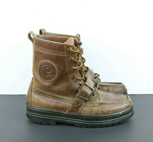 Polo Ralph Lauren Sport Women's Brown Leather Lace Up Buckle Boots Size 7D US for Sale in Weston, FL