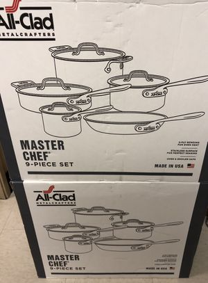 All-Clad Master Chef 9-Pc. Cookware Set for Sale in Daly City, CA