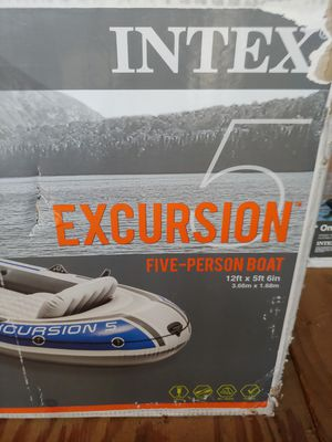 Intex excursion 5 inflatable boat for Sale in Middleton, ID