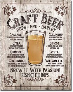 Craft Beer Brewery Pub Bar Metal Sign - New And Bagged for Sale in Gresham,  OR