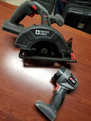 Porter Cable skill saw and flashlight for Sale in Washington, DC