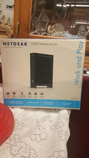 Netgear n300 wireless router work and play new in box for Sale in New Port Richey, FL