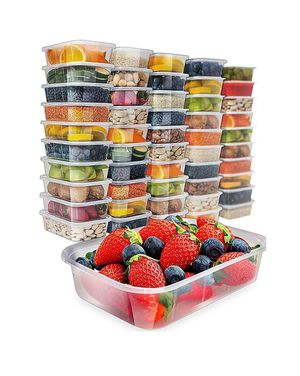 36 pack, 17oz] Food Storage Containers With Lids - Plastic Containers With Lids Plastic Containers for Food Container With Lid for Sale in Bakersfield, CA