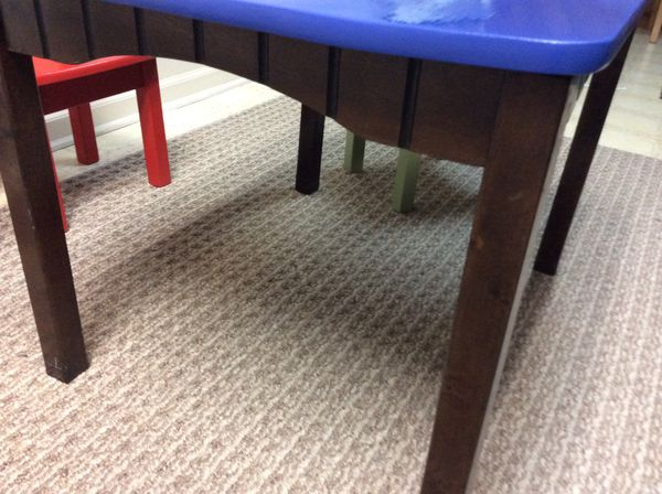 Kids table and 3 chairs, solid wood