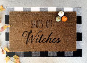 """""""Shoes off witches"""" door mat for Sale in El Dorado Hills, CA"""