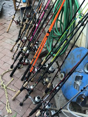 Fishing reel and rods for Sale in Columbia, SC