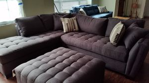Sectional, ottoman and couch for Sale in Tampa, FL