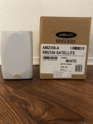 2 white polka audio satellite speakers for Sale in Troy, MI