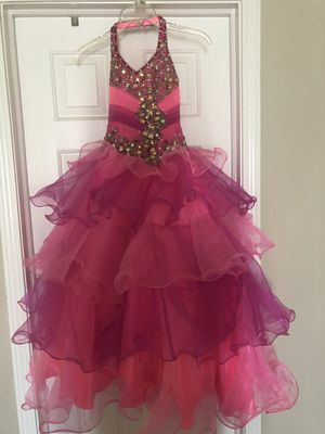 Beautiful pink/multi pageant dress for Sale in Aurora, IL