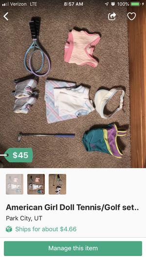American Girl Doll Tennis/Golf set for Sale in Park City, UT