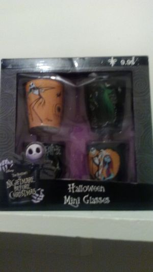 Nightmare before Christmas shot glasses for Sale in Simpsonville, SC