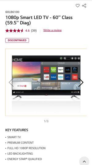 LG 60 inch flat screen TV for Sale in Mesa, AZ