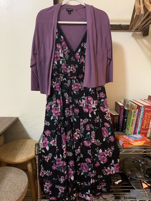 Beautiful Torrid Dress with Purple Cardigan (Women's Plus size) for Sale in Brooklyn, NY