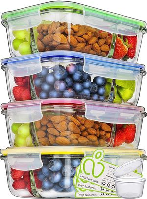 Prep Naturals Glass Meal Prep Containers 3 Compartment - Food Container for Sale in Santa Clara, CA