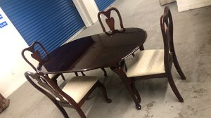 Dining table with four beautiful cheers for Sale in Allentown, PA