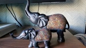 Elephant mama and baby figurines for Sale in Westerville, OH
