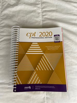 CPT 2020 Codebook with rules and guidelines from the AMAs CPT Editorial Panel for Sale in San Diego, CA
