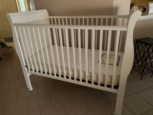 Kids Crib + Sealy mattress + changing table for Sale in Irving, TX