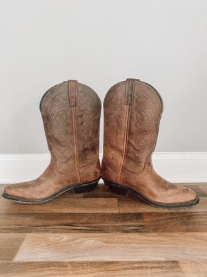 Leather Cowgirl Boots for Sale in Villa Rica, GA