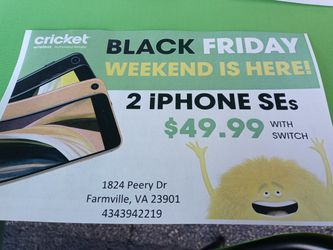 Cricket Wireless Farmville 2 iPhones $49.99 for Sale in Farmville,  VA