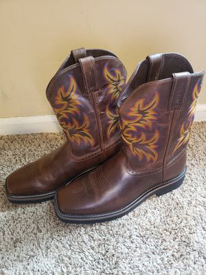 Justin western work boots for men for Sale in Hiram, GA