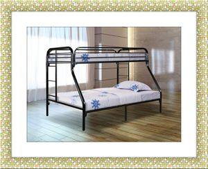 Black full bunkbed framed with free mattress for Sale in Fairfax, VA