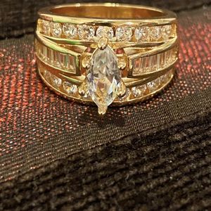 ON SALE****Gorgeous 18K Gold plated Engagement/Promise Ring - Code KI10 for Sale in Dallas, TX