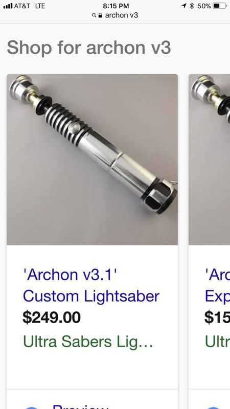 Star Wars Ultrasabers Archon V31 Removable Blade Lightsaber Tri
