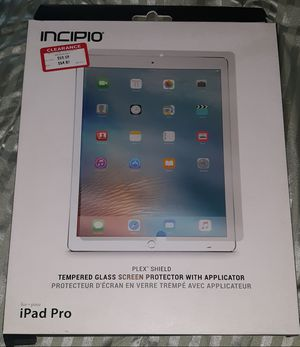 "Incipio Apple iPad Pro 12.9"" Screen protector Plastic foil Screen Protector for Sale in Fort Washington, MD"