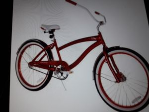 red women's 24 in beach cruiser bike for Sale in Brandon, FL