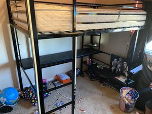 Loft bed without mattress (full size) for Sale in Colorado Springs, CO