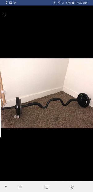 Weights with curl bar for Sale in Pittsburg, CA