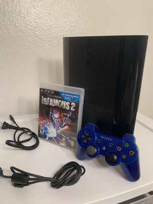 Super Slim (latest model) PS3 w/ Wiresless Remote + Infamous 2 for Sale in San Diego, CA