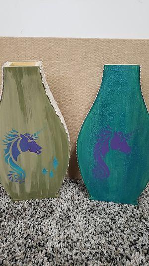 Wood flower decor Unicorn 🦄 vases for Sale in Phillips Ranch, CA