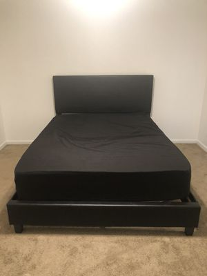 Moving!! Queen size bed frame & mattress for Sale in Carol Stream, IL