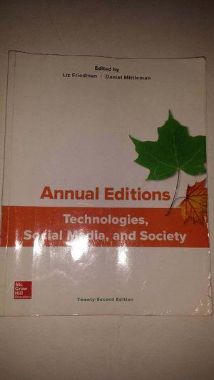 Annual Editions: Technologies, Social Media, & Society 22 e for Sale in Glendale, AZ