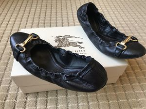Burberry black leather flats for Sale in Hayward, CA